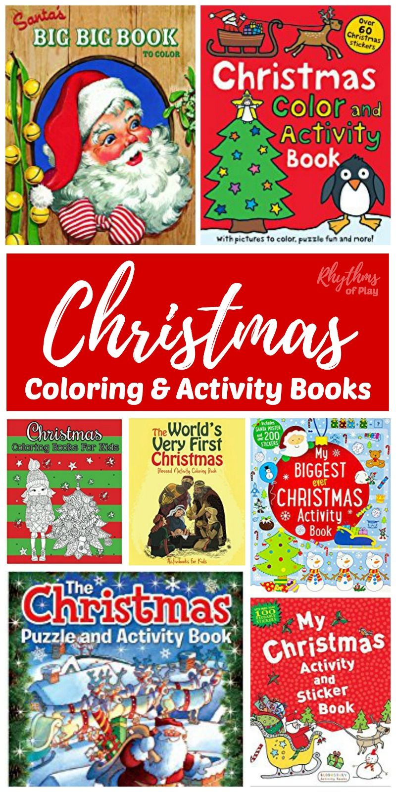 christmas coloring activity books for kids | unique gifts