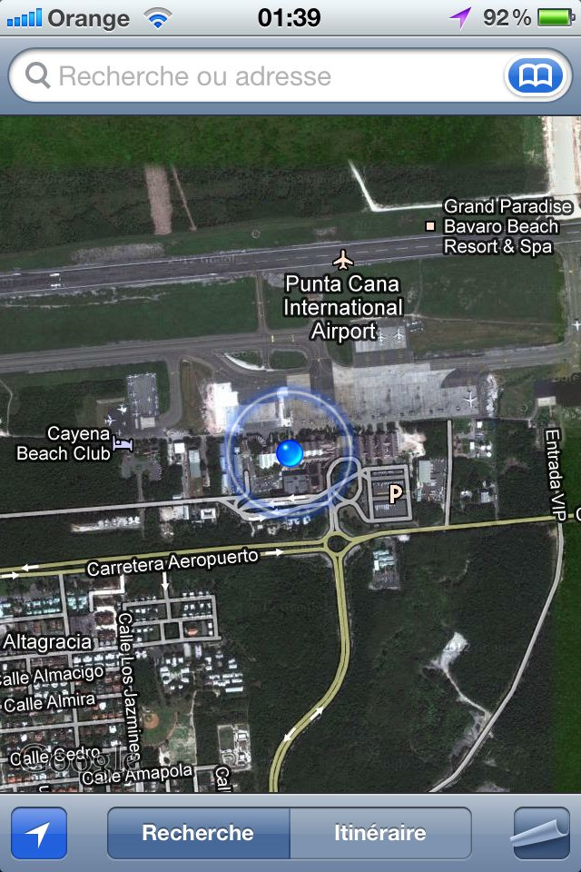 À l'aéroport de Punta cana