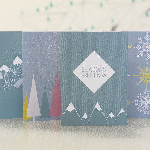 Scenic winter christmas card pack – DOWSE