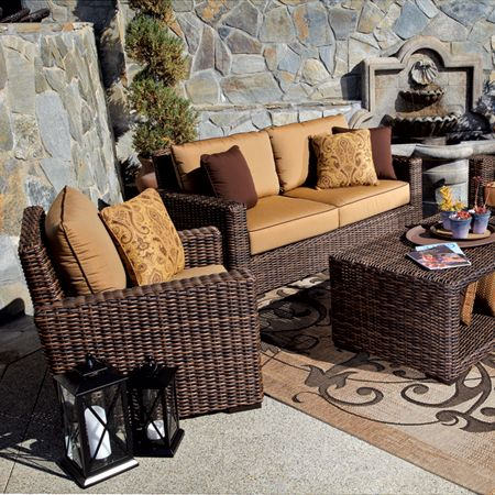 Thos Baker Java Stylish Patio Furniture Outdoor Living Space Outdoor Sofa