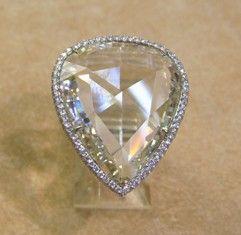 00509 Ring 13ct PS Rose Cut Diamond Ring