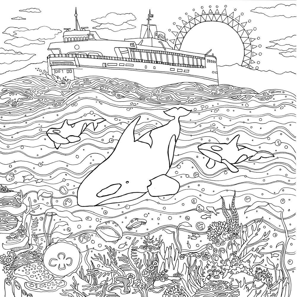 Pin de Elisabeth Quisenberry en Coloring Therapy: Under The Sea ...
