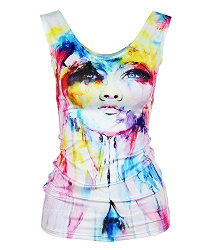 Ninimour-Women Ladies Original Design Fashion Makeup Model Painting Sleeveless T-Shirt Tank Top Vest (One size, Look up sky) Ninimour http://www.amazon.ca/dp/B00SW8LZC4/ref=cm_sw_r_pi_dp_EhOZwb0A9JVT6