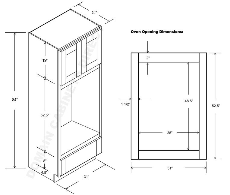 Double Wall Oven Cabinet