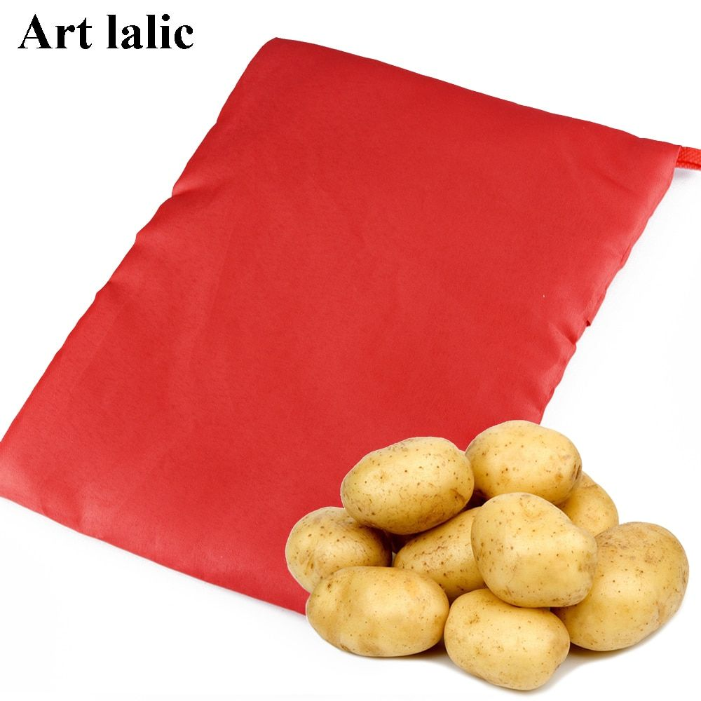 1PC NEW Red Washable Cooker Bag Baked Potato Microwave