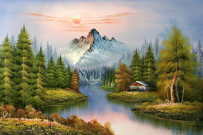 Mountain Landscapes Classic Mountain Landscape Landscape Oil Paintings On Canvas Landscape Scenery Paintings Mountain Landscape