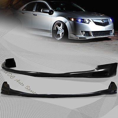For 2009 2010 Acura Tsx Black Polyurethane Front Lower Bumper Spoiler Lip Kit Motors Parts Accessories Aftermarket Replacement Acura Tsx Acura Motor Parts