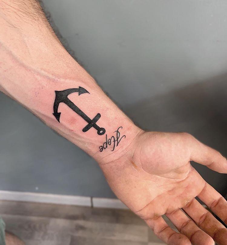 Trident Tattoo Company: Hope ️ #tattoo #tattoos #tinytattoo #anchor#riminitattoo