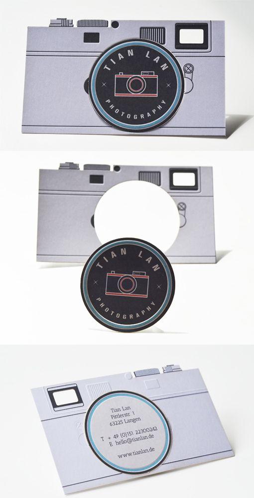 Camera Shaped Design Card Observer Graphic Design Business Card Photography Business Cards Business Card Design Creative