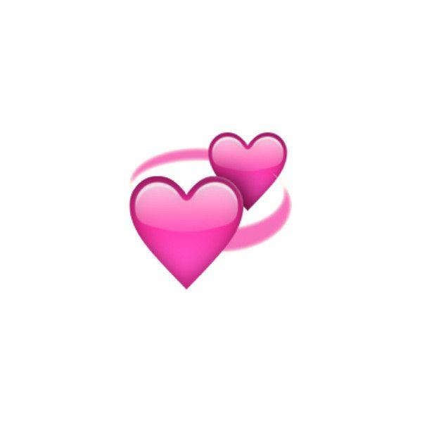 Revolving Hearts Liked On Polyvore Featuring Emojis Heart Emoji Emoji Postcard Size