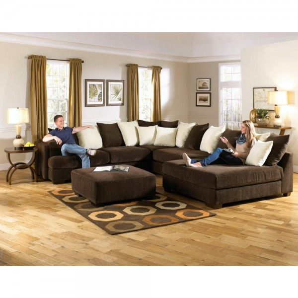 Jackson Furniture Axis Chocolate Chenille Sectional Sofa with Daybed Chaise  sc 1 st  Pinterest : axis sectional - Sectionals, Sofas & Couches