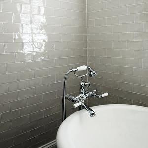 Gray Glazed Subway Tiles Contemporary Bathroom Trebil And Ociates Architects