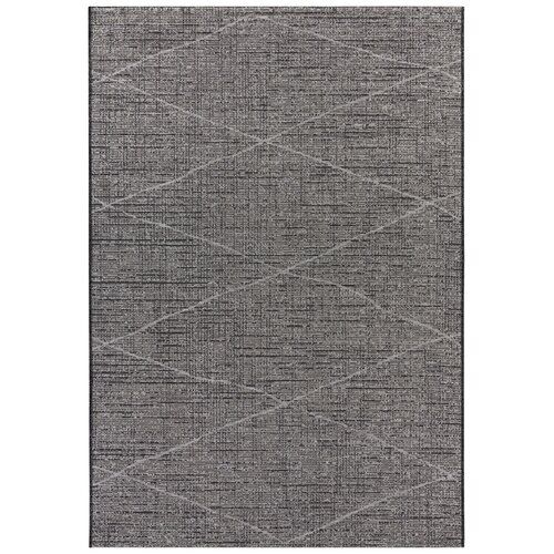 Blois Flatweave Grey Anthracite Indoor Outdoor Rug Elle Decor Rug
