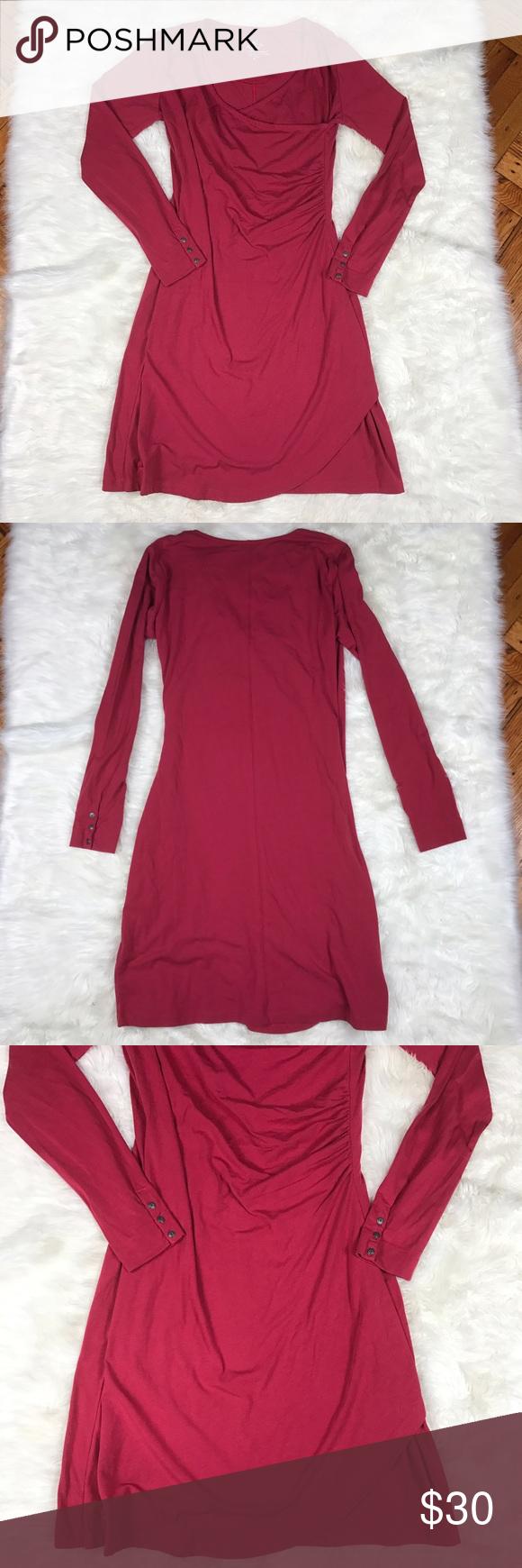 Kuhl midi long sleeve wrap dress medium kuhl long sleeve midi wrap