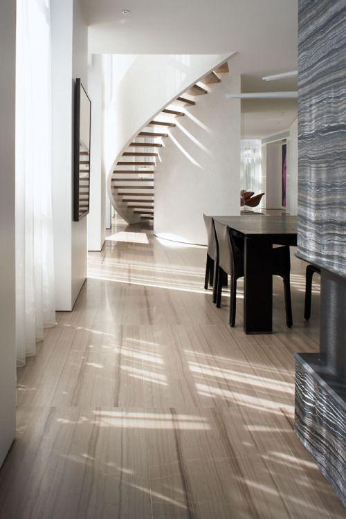 Pingl sur escaliers - Escalier contemporain beton ...