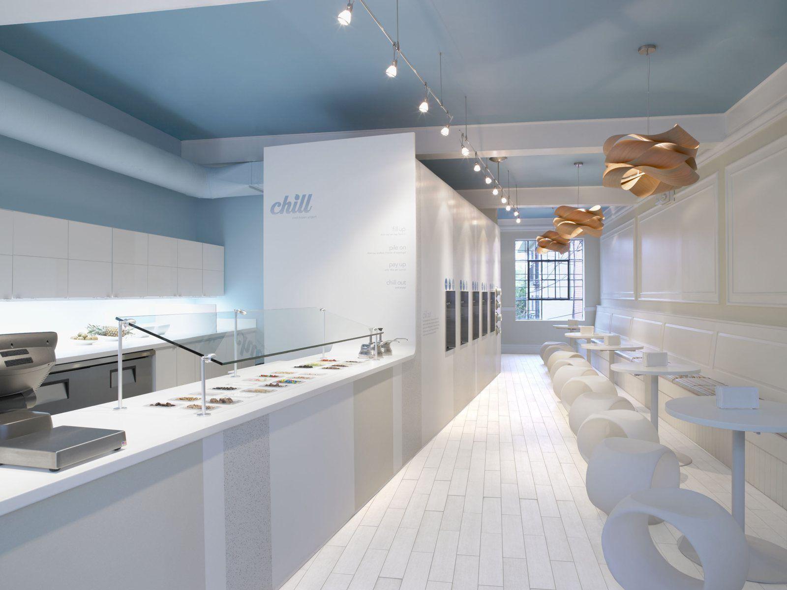 chill frozen yogurt store with lzf lamps link pendants 珠宝