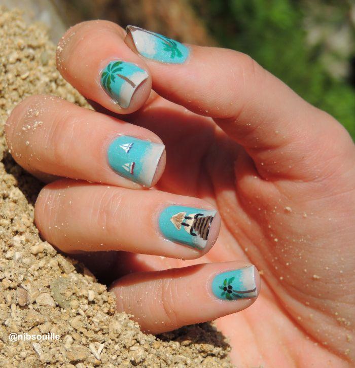 Tropical Nail Art.