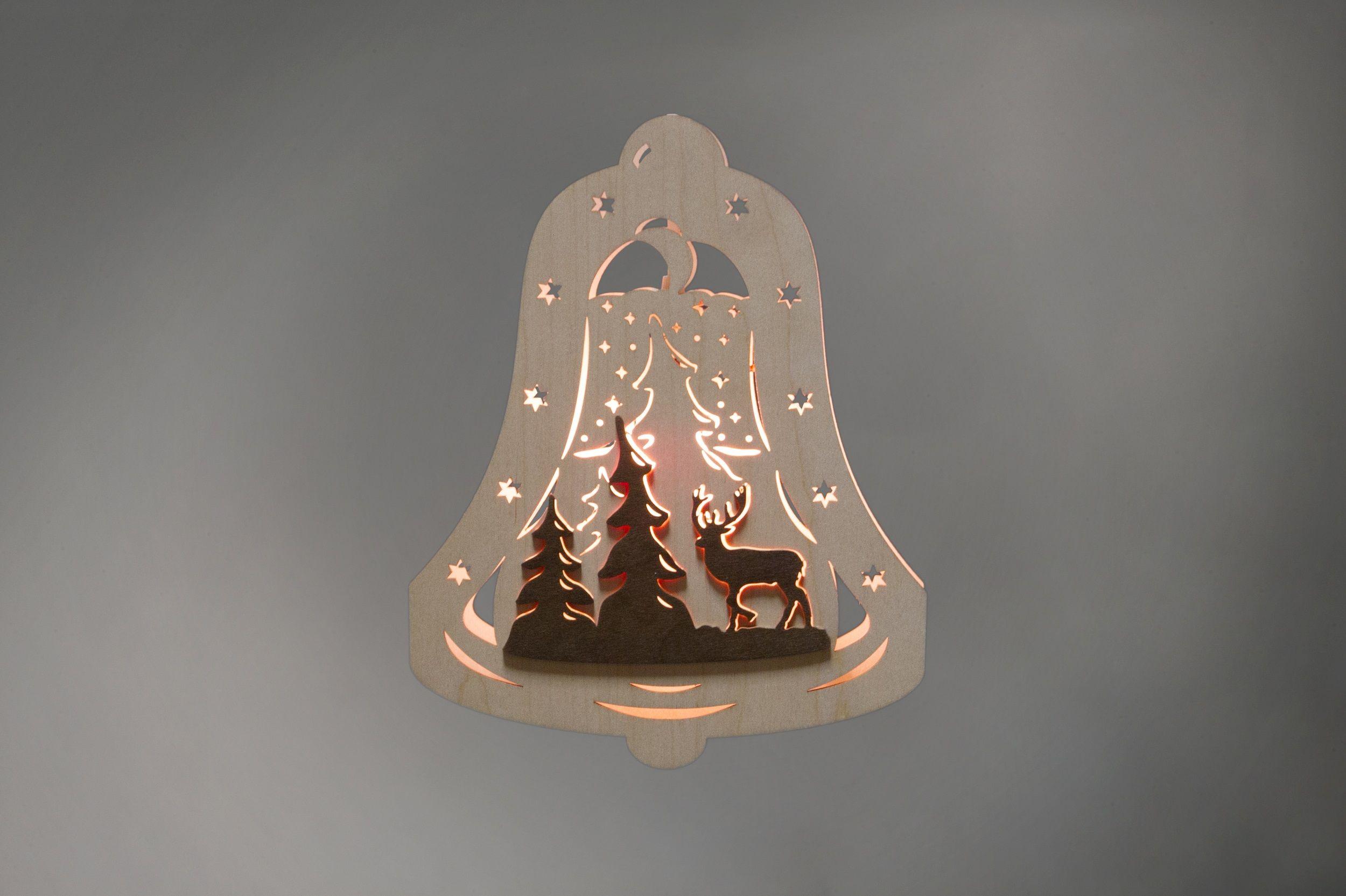 Fensterbild glocke waldmotiv beleuchtete - Braunen durch fenster ...