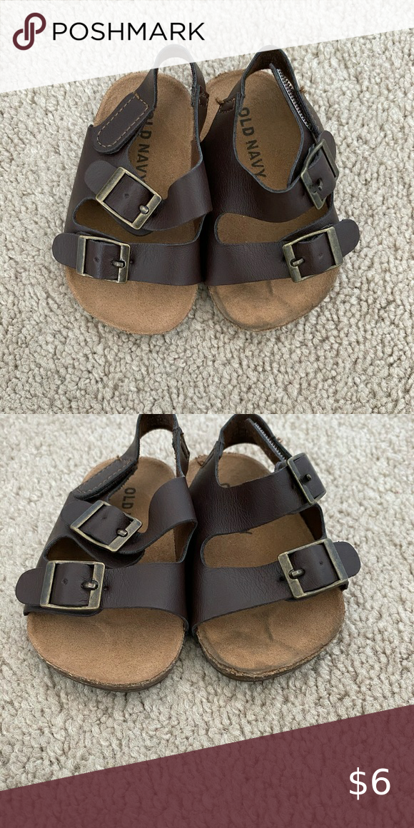Brown Infant Sandals Brown Infant Sandals Size 3 6 Months Gently Used Old Navy Shoes Sandals In 2020 Baby Sandals Sandals Navy Shoes