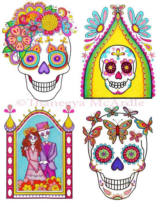 Pin de Rosaria Stevens en Dia De Los Muertos Art | Pinterest | Dia ...