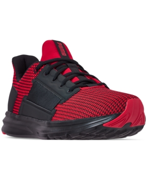 b85bbbe4059d Puma Men s Enzo Street Knit Casual Sneakers from Finish Line - Red 10.5