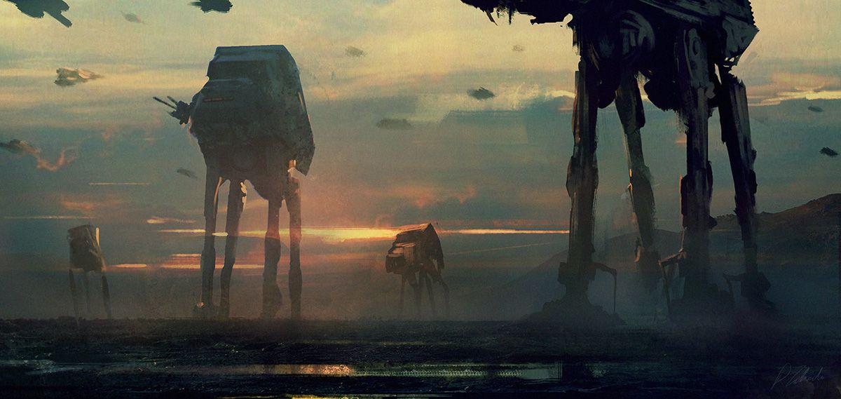 50 Stunning Sci Fi Landscapes Star Wars Art Star Wars Painting Star Wars Wallpaper