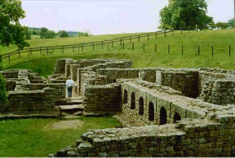 Reconstructed Section Of Hadrian S C Andrew Curtis Hadrians Wall Roman Britain Archaeological Site