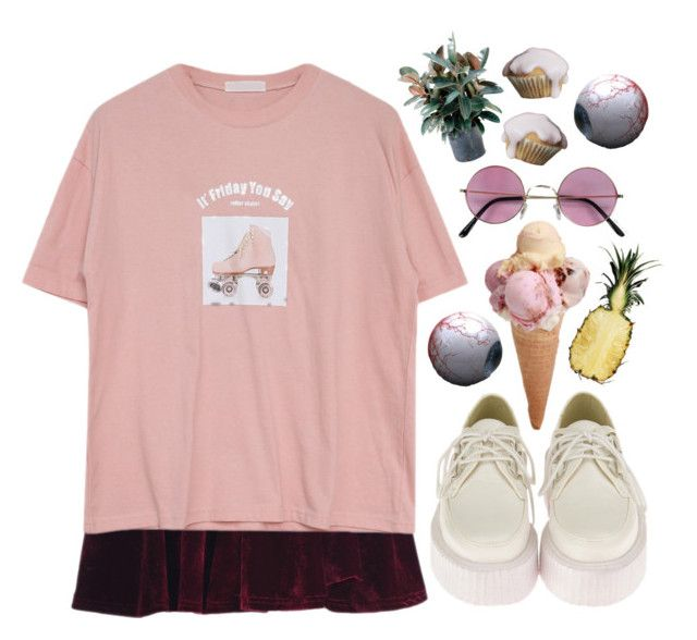 """""""Friday comes too soon"""" by slice-of-illusion ❤ liked on Polyvore featuring Goroke and Retrò"""