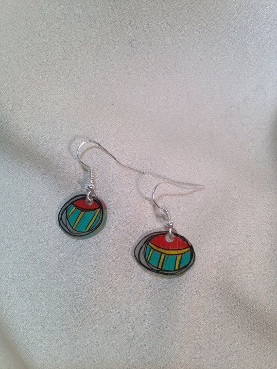 Abstract Circle Earrings on Etsy, $8.00