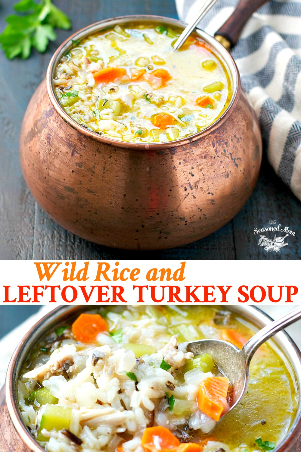 Wild Rice and Leftover Turkey Soup
