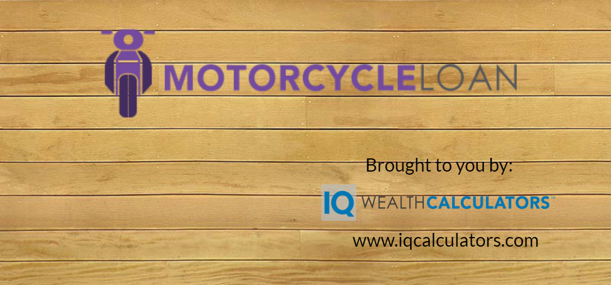 Motorcyle Loan Calculator Brought To You By Iq Wealth Calculators