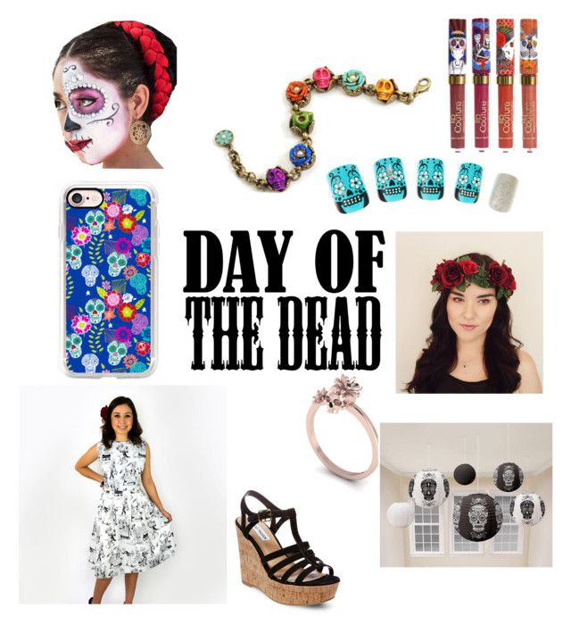 """""""Day of The Dead"""" by sunshinegoddess7 ❤ liked on Polyvore featuring art and Dayofthedead"""