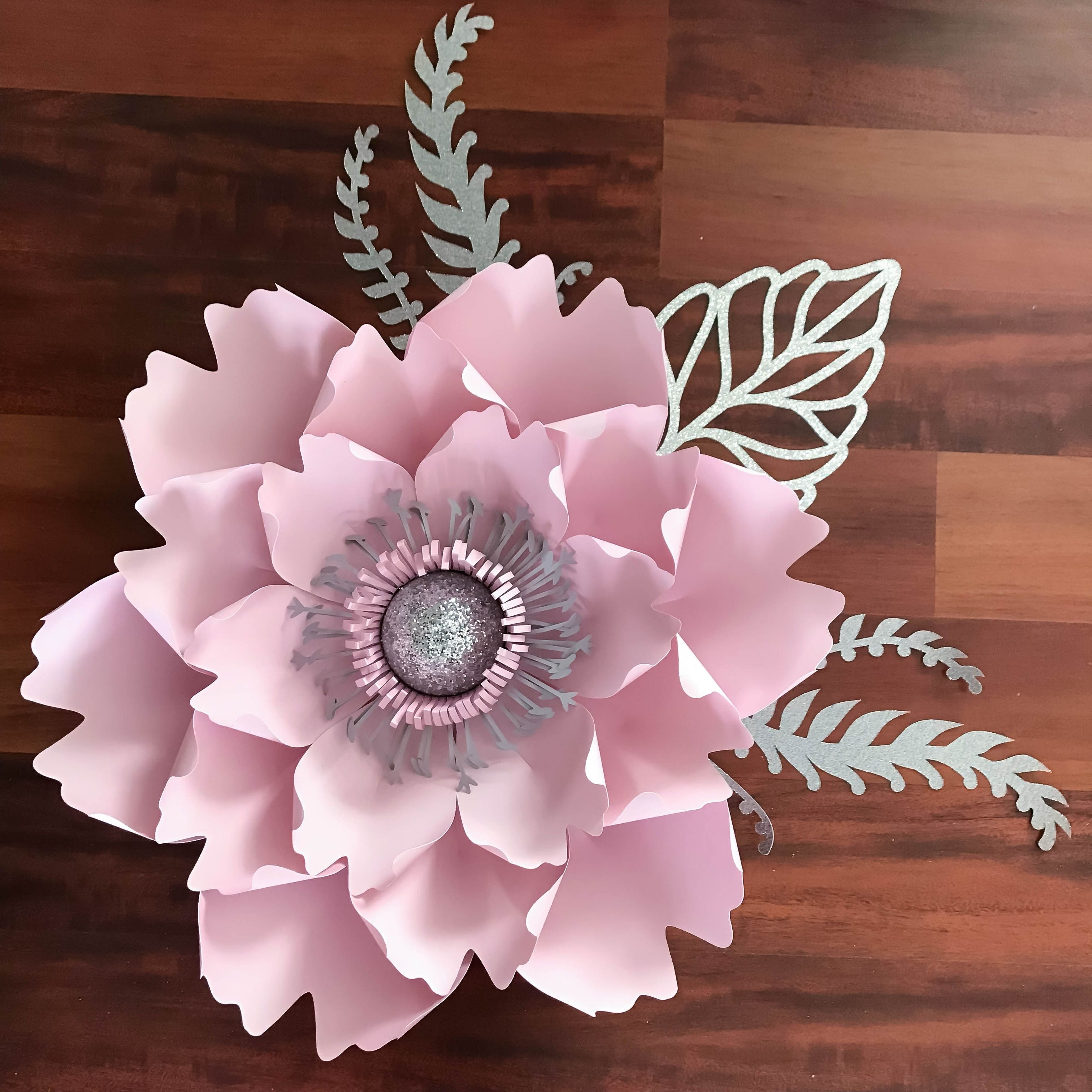 Pdf Petal 13 Paper Flower Template With Base Digital Version