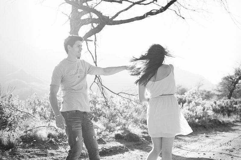 playful dancing in the outdoors