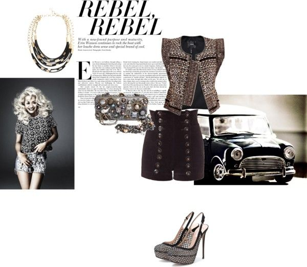 """Rebel, rebel"" by gloriadeym ❤ liked on Polyvore"