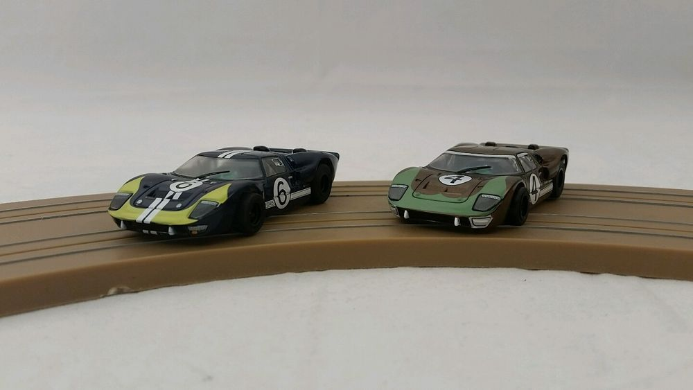 Afx Ho Scale Slot Cars Mega G 1 5 Ford Gt40 4 6 Clear Series Lot Of 2 Slot Cars Slot Car Racing Ford Gt40