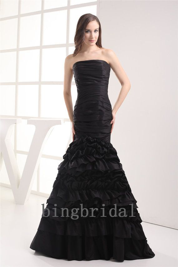 d2348f4ace special occasion dresses bridesmaid dresses blue short wedding dresses with  cowboy boots strapless mermaid black taffeta prom dress with cascading  ruffles