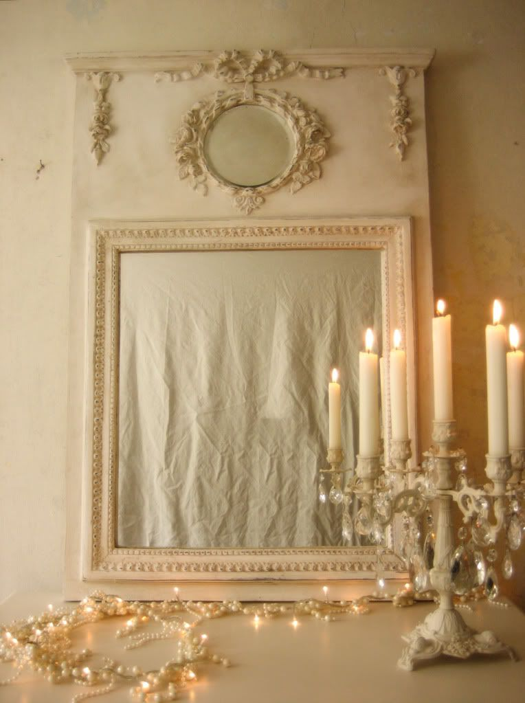 Decorative Mirror U0026 French Rococo Crystal Candelabra   The Painted Room | Home  Decor