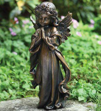 Bronze Little Girl Angel