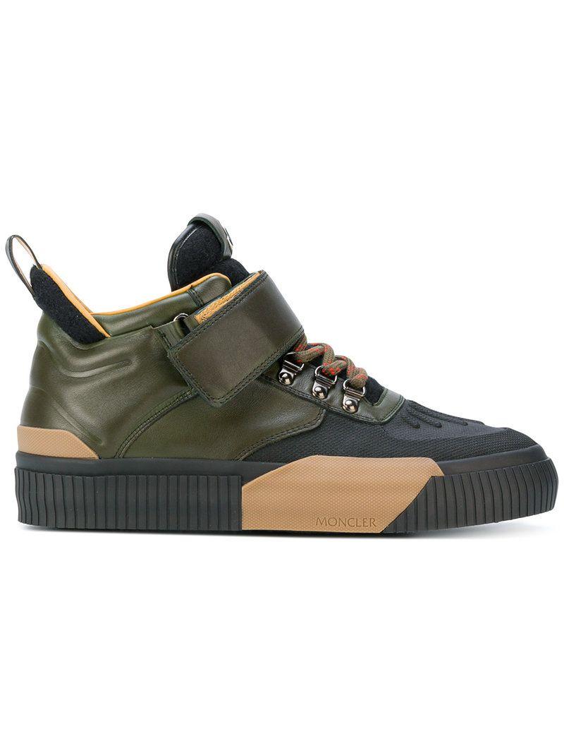 MONCLER COLOUR-BLOCK SNEAKERS.  moncler  shoes    1bc33d861