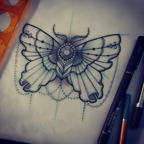 Butterfly Tattoo With Pearls And Gems Google Search Traditional Heart Tattoos Traditional Butterfly Tattoo Traditional Tattoo