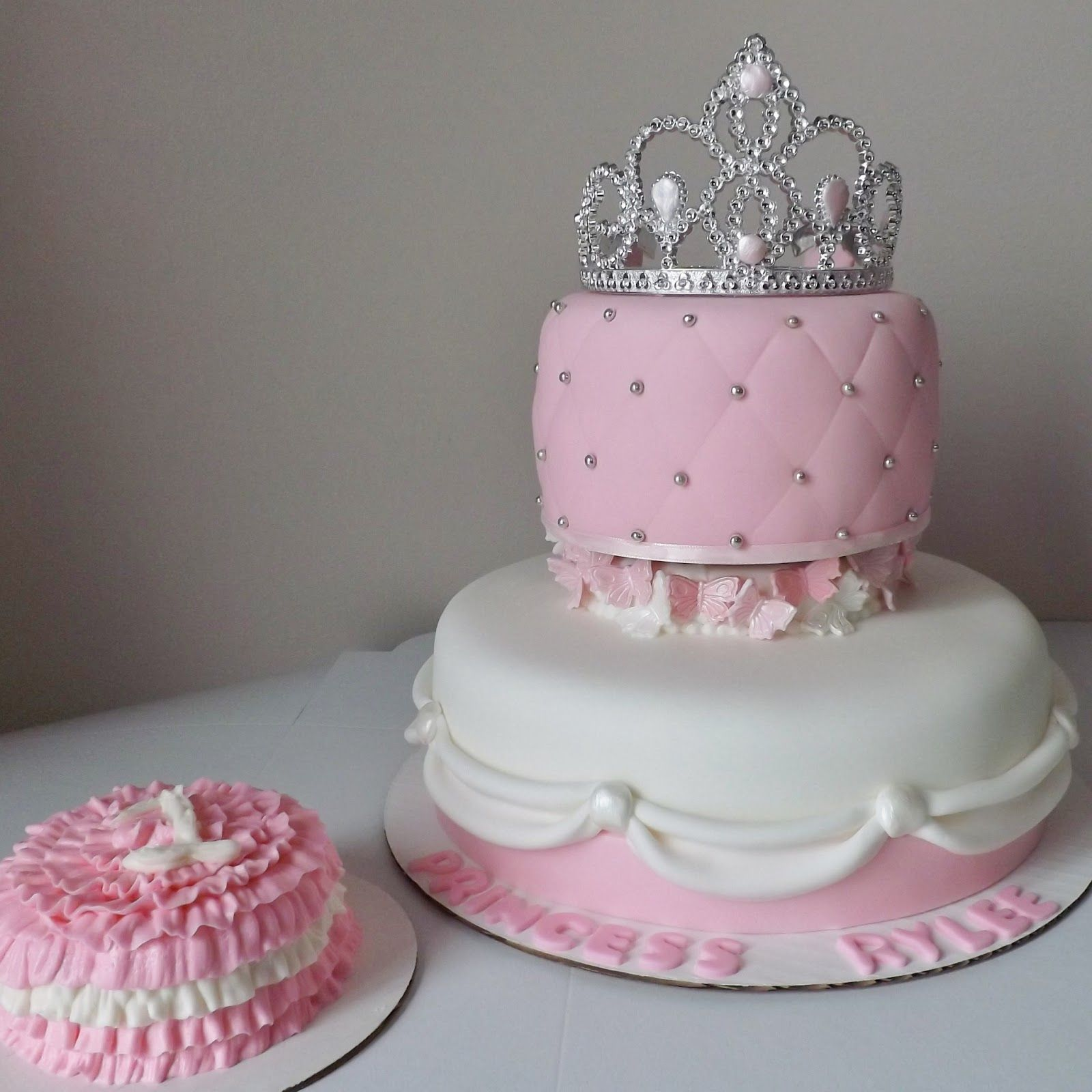 Princess tiara cake with butterfly support WallpaperPretty