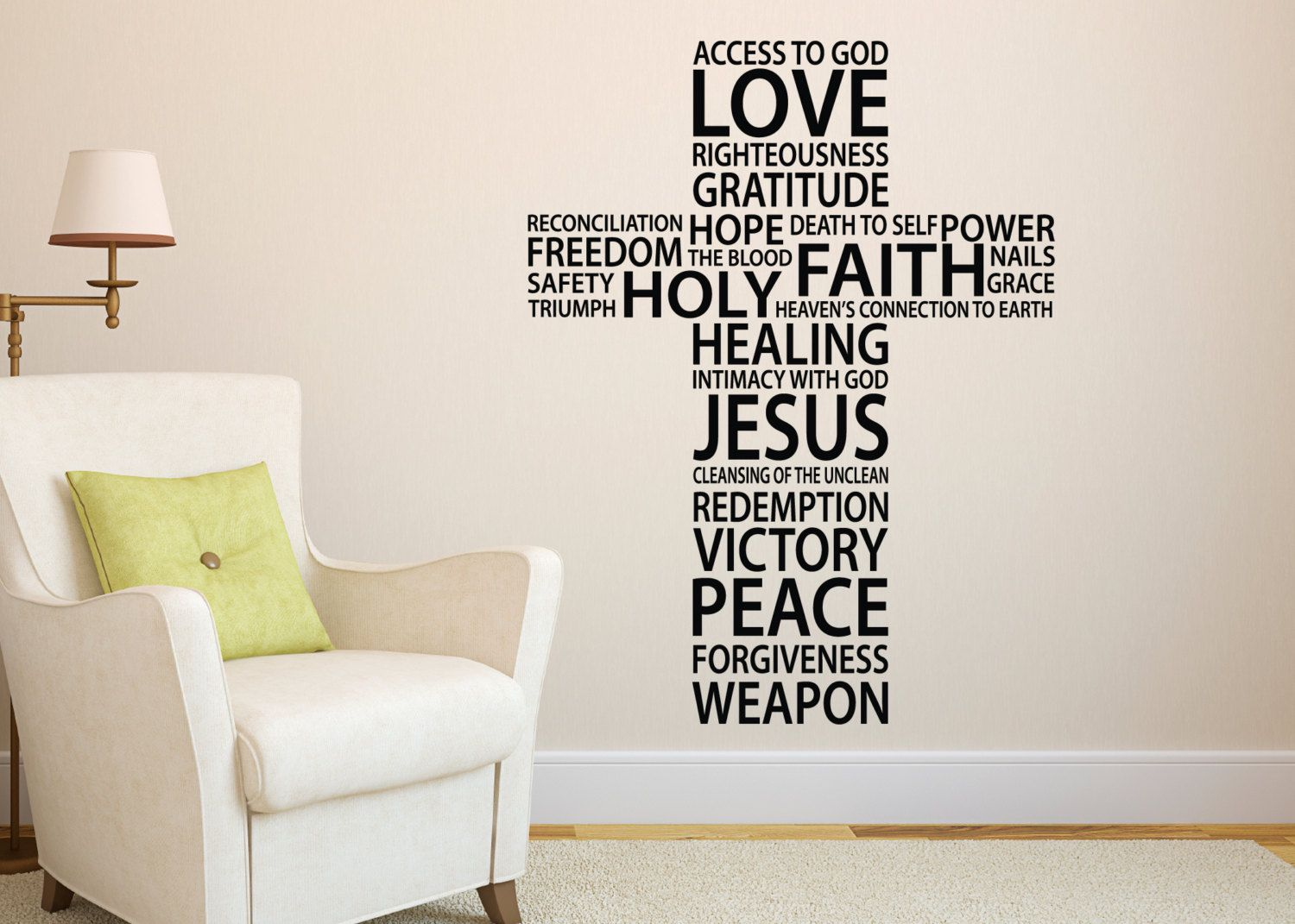 Vinyl Wall Stickers Cross collage Christian