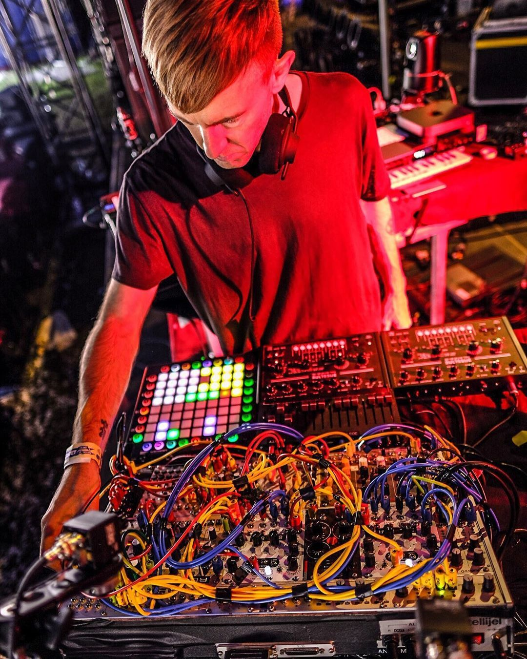 Richie Hawtin On Instagram Analog Digital Hybrid Computerized Modular Battleship Ready For Tonight Szigetofficial Euror Techno Music Techno Battleship