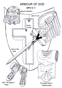 Armour Of God Sunday School Lesson Crafts And Coloring Pages
