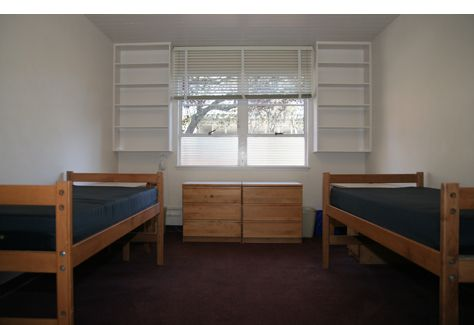Stanford University provides the basic furniture in rooms