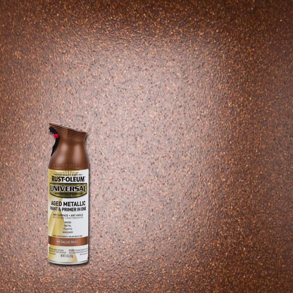 Rust Oleum Universal 11 Oz Pearl Metallic Champagne Pink Spray Paint And Primer In 1 Pink Spray Paint Gold Paint Colors Rose Gold Painting
