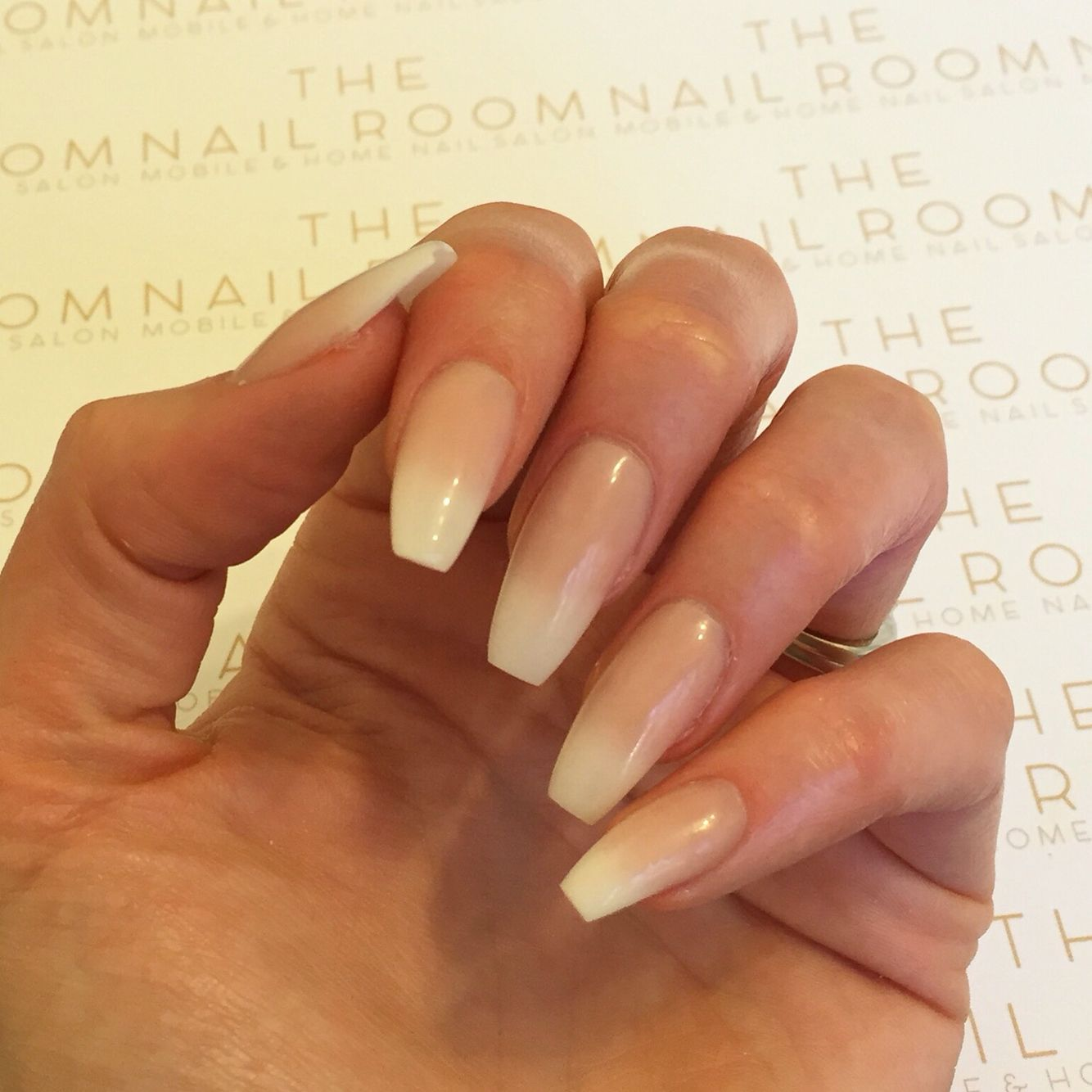 Faded French Acrylic Nails French Fade Nails Faded Nails French Acrylic Nails