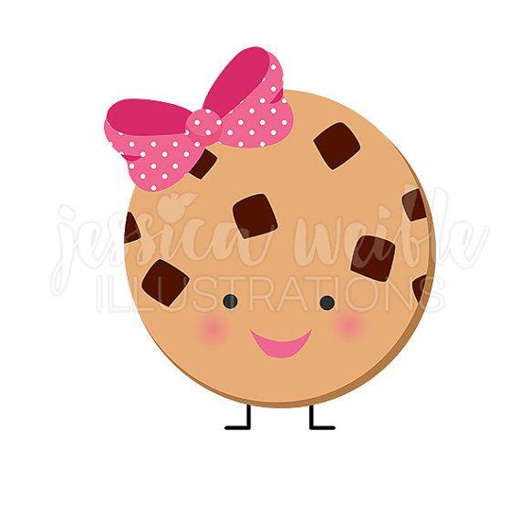 Cute Chocolate Chip Cookie Character Cute Digital Clipart Etsy Clip Art Cute Clipart Kawaii Faces