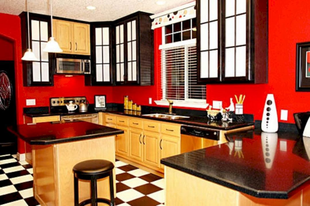 Red And Black Kitchen Ideas 2 Black Red Kitchen Red